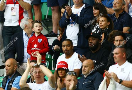 Kai Rooney looks on from the stand during the UEFA Euro 2016 Group B match between England and Slovakia played at Geoffroy-Guichard, Saint-Etienne, France on June 20th 2016
