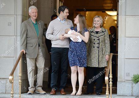 Stock Image of Bill Clinton, Marc Mezvinsky, Chelsea Clinton, Aidan Clinton Mezvinsky
