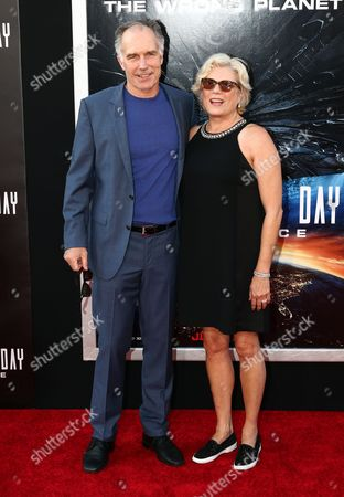 Stock Photo of Patrick St. Esprit and Tawny Moyer