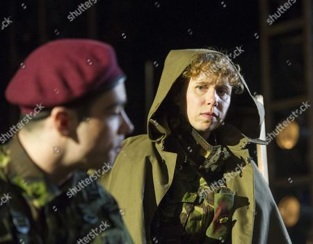 Jack McMullan as Williams, Michelle Terry as King Henry V,