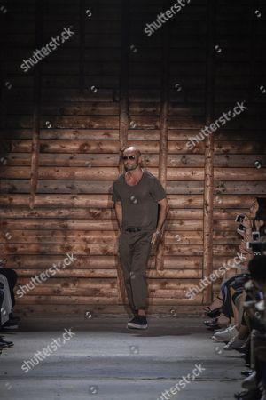 Milan Vukmirovic on the catwalk