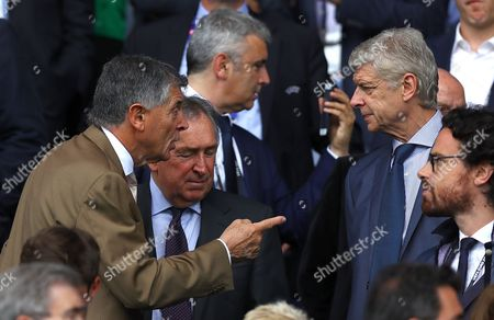 David Dein points to Arsene Wenger during the UEFA Euro 2016 Group C match between Northern Ireland and Germany played at Parc des Princes, Paris, France on June 21st 2016