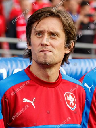 Tomas Rosicky of Czech Republic during the UEFA Euro 2016 Group D match between Czech Republic and Turkey played at The Felix Bollaert-Delelis Stadium, Lens, France on June 21st 2016