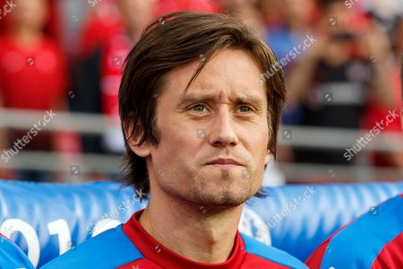 Tomas Rosicky of Czech Republic on the bench during the UEFA Euro 2016 Group D match between Czech Republic and Turkey played at The Felix Bollaert-Delelis Stadium, Lens, France on June 21st 2016