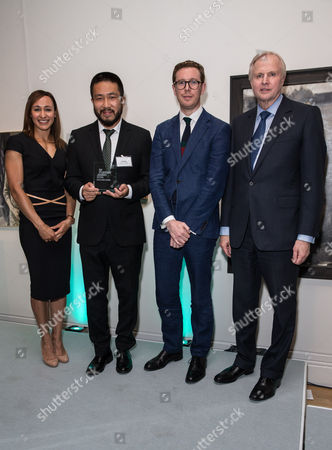 Jessica Ennis, Bo Wang (Second Prize in the BP Portrait Award), Dr Nicholas Cullinan (Director of the National Portrait Gallery) and Bob Dudley (Group Chief Executive of BP)