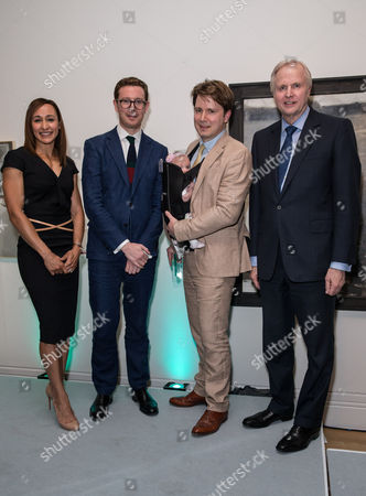 Jessica Ennis, Dr Nicholas Cullinan (Director of the National Portrait Gallery) Benjamin Sullivan (Third Prize in BP Portrait Award), and Bob Dudley (Group Chief Executive of BP)