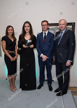 Jessica Ennis, Laura Guoke (Winner of BP Travel Award 2016), Dr Nicholas Cullinan (Director of the National Portrait Gallery) and Bob Dudley (Group Chief Executive of BP)