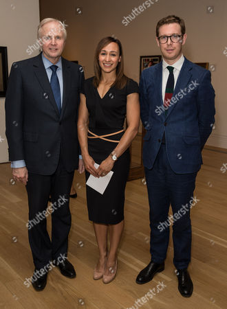 Bob Dudley (Group Chief Executive of BP), Jessica Ennis and Dr Nicholas Cullinan (Director of the National Portrait Gallery)