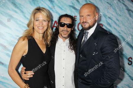 Lynn Harris, Oscar Jaenada and Matti Leshem