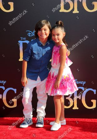 Stock Image of Malachi Barton and Ariana Greenblatt