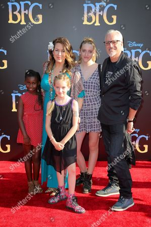 Joely Fisher, Christopher Duddy and family