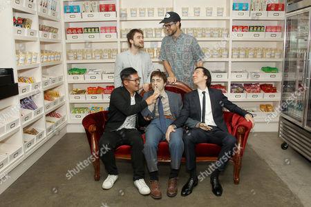 "Daniel Radcliffe, ""Swiss Army Man"" Dummy, Daniel Kwan (Co-Director), Paul Dano, Daniel Scheinert (Co-Director)"