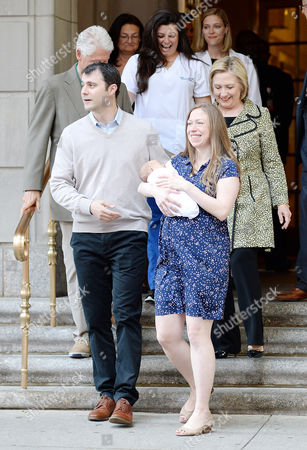 Bill Clinton, Marc Mezvinsky, Chelsea Clinton, Aidan Clinton Mezvinsky and Hillary Clinton