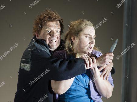 Peter Hoare as Laca, Laura Wilde as Jenufa