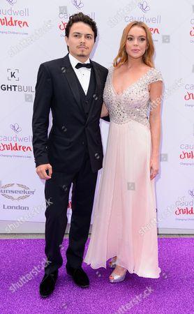 Stock Picture of Egor Tarabasov and Lindsay Lohan