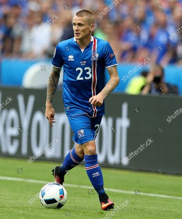 Ari Freyr Skulason of Iceland during the UEFA Euro 2016 Group F match between Iceland and Austria played at Stade de France, Paris, France on June 22nd 2016