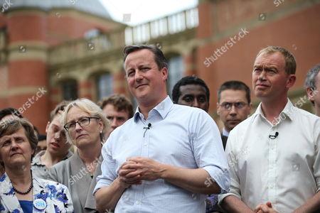 Stock Image of David Cameron, Tim Farron, Paddy Ashdown, Harriet Harman and Brendan Barber