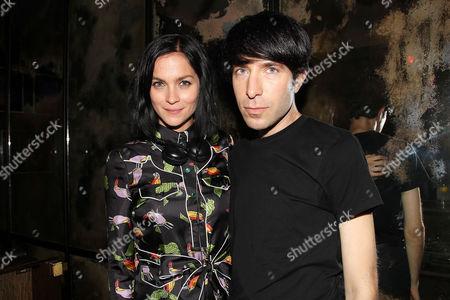 Stock Image of Leigh Lezark and Greg Krelenstein
