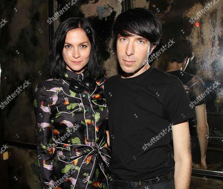 Stock Photo of Leigh Lezark and Greg Krelenstein