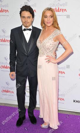 Stock Image of Egor Tarabasov & Lindsay Lohan