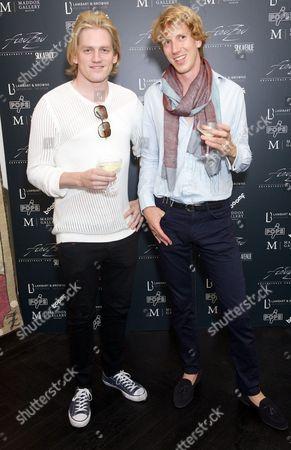Richard Dinan & artist Freddy Van Zevenbergen