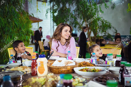 Editorial image of Queen Rania visits the Al Hussein Social Foundation for Orphans, Jordan - 20 Jun 2016