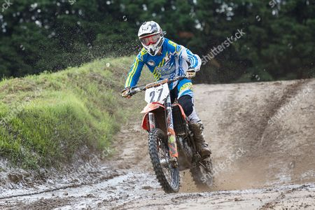 Phil Burton in action during ACU Eastern Centre MX Round Four at Mildenhall MX Circuit on 26th June 2016