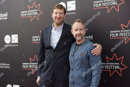 Stock Image of Director Benjamin Turner and actor Billy Boyd