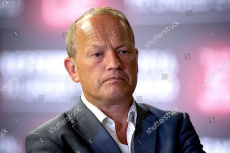 Simon Danczuk, MP for Rochdale, at the declaration in The Great Hall, in the EU referendum at Manchester Town Hall