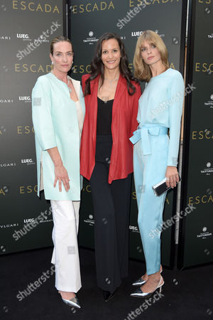 Tatjana Patitz, Claudia Mason and Julia Stegner