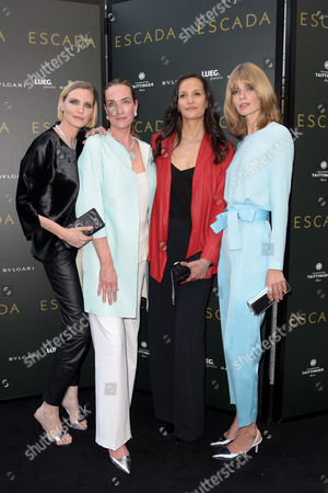 Nadja Auermann, Tatjana Patitz, Claudia Mason and Julia Stegner