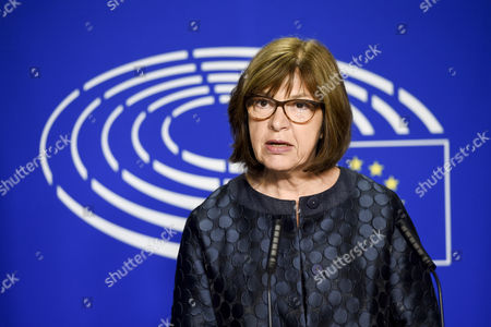 Stock Photo of Rebecca Harms, Co-President of the Green Group at the European Parliament