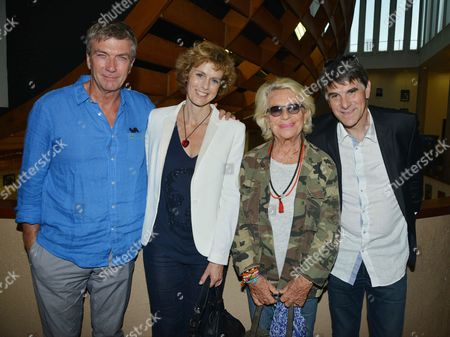 Philippe Caroit, Anne Richard, Veronique de Villele and Tex