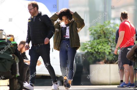 Editorial photo of 'Doctor Who' TV series on set filming, Cardiff, Wales - 24 Jun 2016