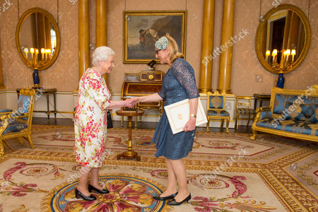 Ambassador of Georgia Tamar Beruchashvili meets Queen Elizabeth II during a private audience at Buckingham Palace