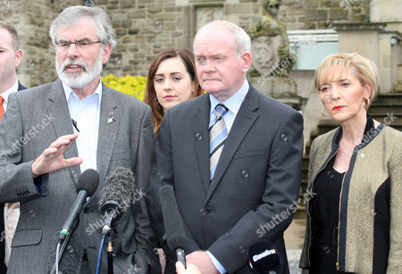 Gerry Adams TD, Martin McGuinness MLA and Martina Anderson MEP