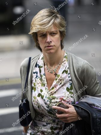 Stock Picture of Charlotte Leslie MP in Westminster, London on the day that the UK voted to leave the EU in a referendum.