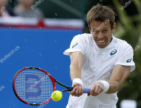 Canada's Daniel Nestor partners Great Britain's Dominic Inglot  in the doubles final during the Aegon Open Nottingham Tennis Tournament played at Nottingham tennis, Nottingham on June 25th 2016