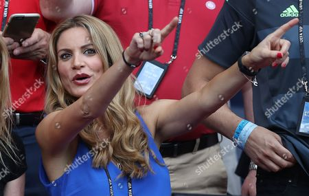 Charlotte Coleman, wife of Wales manager Chris Coleman during the UEFA Euro 2016 Round of 16 match between Wales and Northern Ireland played at Parc des Princes, Paris, France on June 25th 2016
