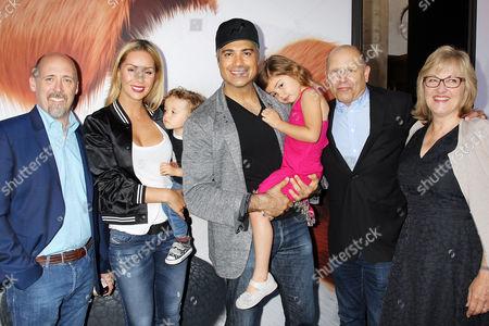 Chris Renaud, Heidi Balvanera & Jaime Camil with Family, Chris Meledandri, Janet Healy
