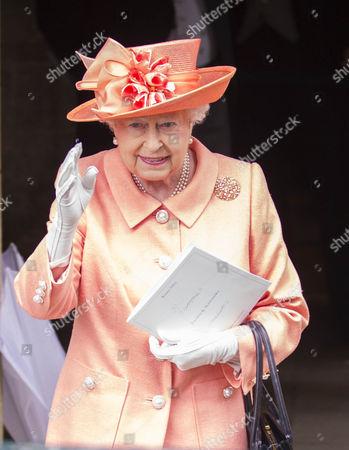 Queen Elizabeth II after the wedding.