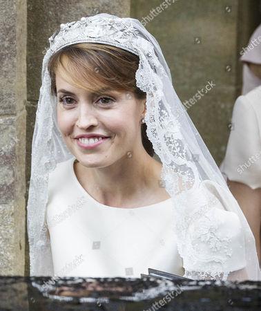 Alexandra Knatchbull after the wedding.