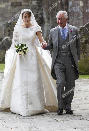 Stock Image of Prince Charles gives Alexandra Knatchbull away.