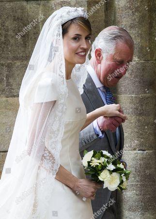 Stock Photo of Prince Charles gives Alexandra Knatchbull away.