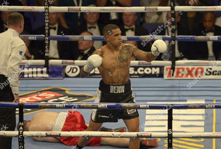 Connor Benn defeats Lukas Radic by knockout during the Super-Lightweight fight between Conor Benn and Lukas Radic at the O2 Arena, London on June 25th 2016