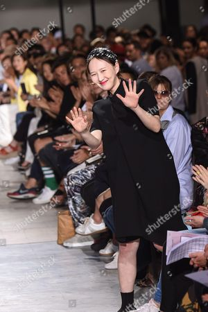 Katie Chung on the catwalk