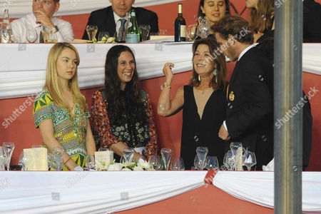 Stock Picture of Princess Alexandra of Hanover, Tatiana Santodomingo, Princess Caroline of Hanover and Andrea Casiraghi