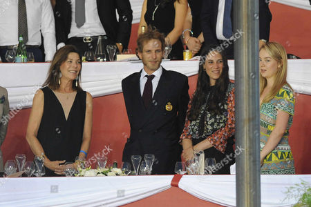 Princess Caroline of Hanover, Andrea Casiraghi, Tatiana Santodomingo, Princess Alexandra of Hanover
