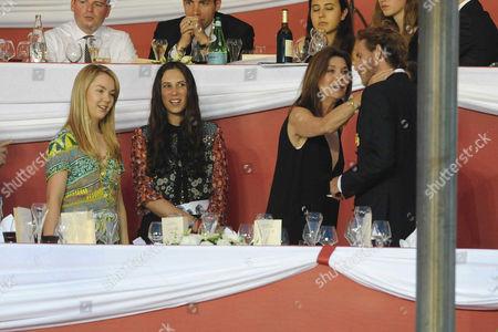 Stock Photo of Princess Alexandra of Hanover, Tatiana Santodomingo, Princess Caroline of Hanover and Andrea Casiraghi