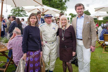 Lady Sarah Chatto, Sir Jackie Stewart, Nettie Mason and Laurent Feniou